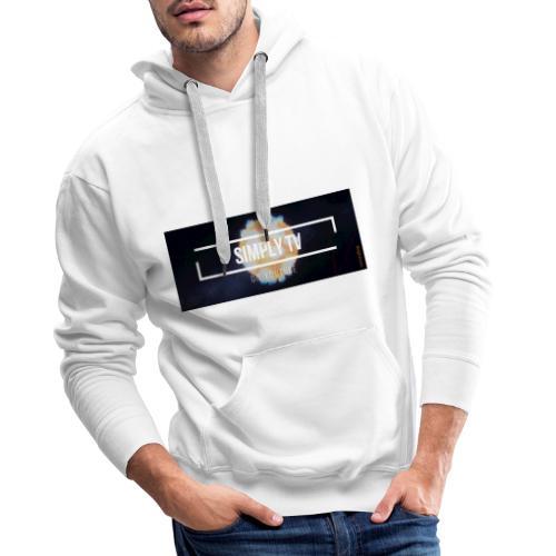DESIGN SIMPLY-TV - Sweat-shirt à capuche Premium pour hommes