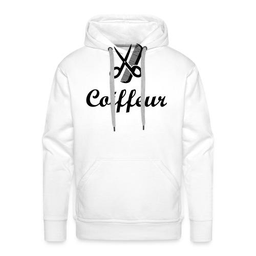 Coiffure / Coiffeur / Coiffeuse / Mode / Cheveux - Sweat-shirt à capuche Premium pour hommes