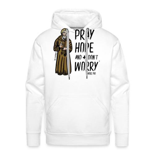 Padre Pío - Sudadera con capucha premium para hombre