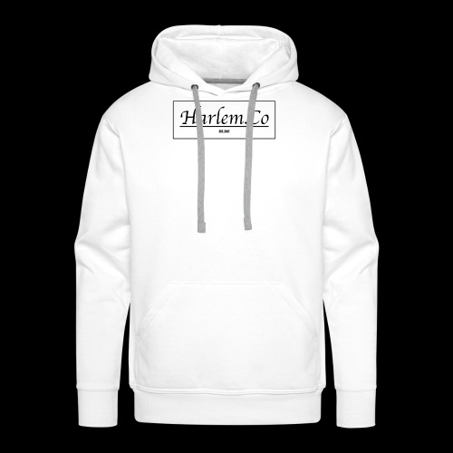 Harlem Co logo White and Black - Men's Premium Hoodie