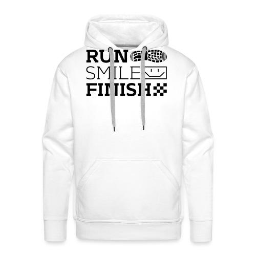 Run Smile Finish Marathon-Motto - Männer Premium Hoodie