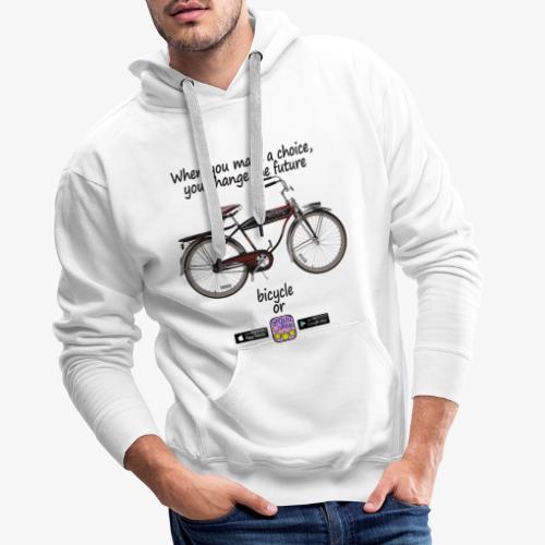 Bicycle or... - Felpa con cappuccio premium da uomo
