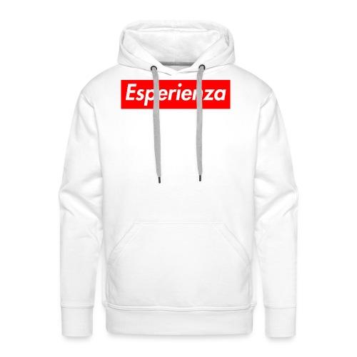 Esperienza logo box - Felpa con cappuccio premium da uomo