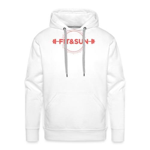 FIT SUN logo V2 corail2 copie - Sweat-shirt à capuche Premium pour hommes