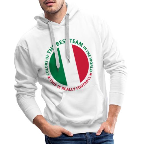 Best team in the world IT - Felpa con cappuccio premium da uomo