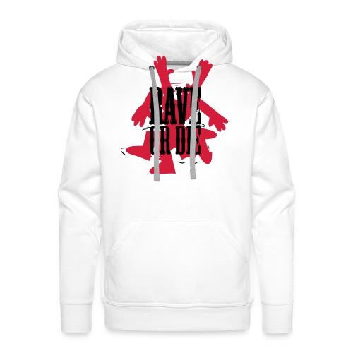 Rave or Die! Dancing figure - Men's Premium Hoodie