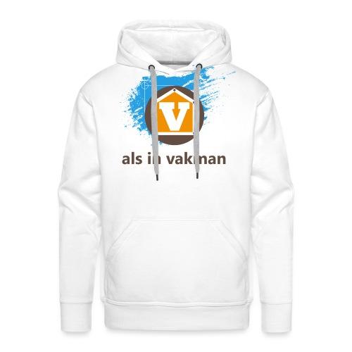 V als in Vakman - Mannen Premium hoodie