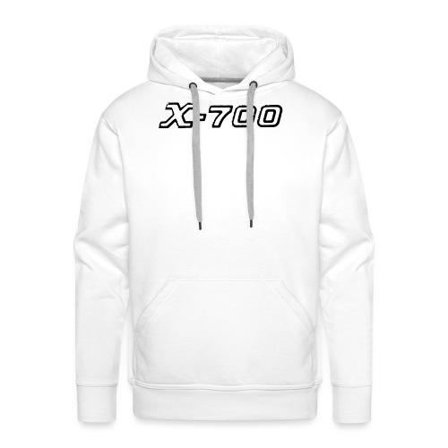 Minolta X-700 White - Felpa con cappuccio premium da uomo