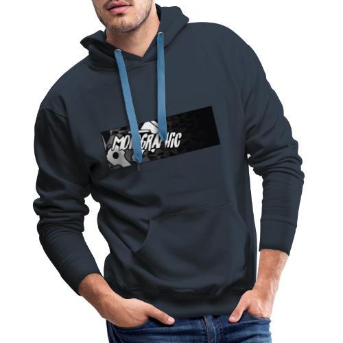 Mannen Premium hoodie - motor,motographic,moto