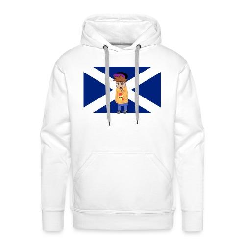 Flag of Scotland navy blue svg png - Men's Premium Hoodie