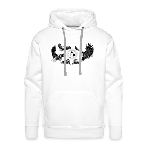 Three Eagles dancing for two bikes. - Mannen Premium hoodie