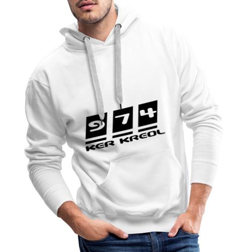 Ecriture 974 Ker Kreol - Sweat-shirt à capuche Premium pour hommes