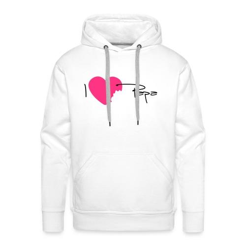 I love Papa 13 Vecto - Sweat-shirt à capuche Premium pour hommes
