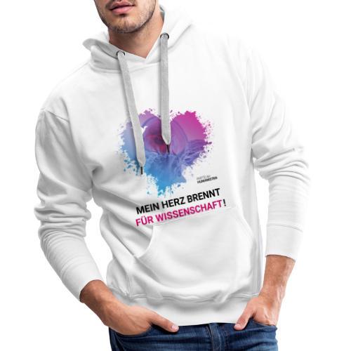 Mein Herz brennt für Wissenschaft! - Männer Premium Hoodie