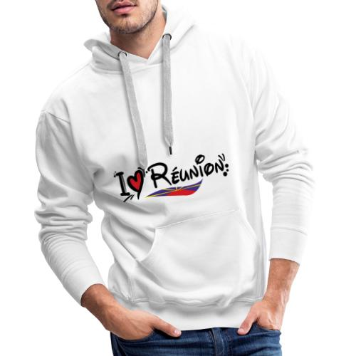 i love Réunion - MAHAVELI - Sweat-shirt à capuche Premium pour hommes
