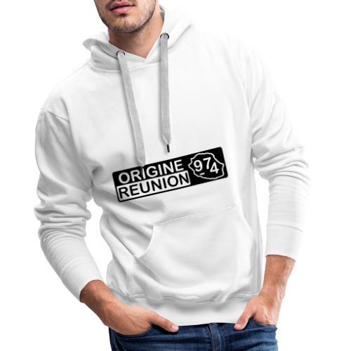 Origine Réunion 974 - v2 - Sweat-shirt à capuche Premium pour hommes