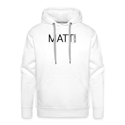 Matt logo 1 png - Men's Premium Hoodie