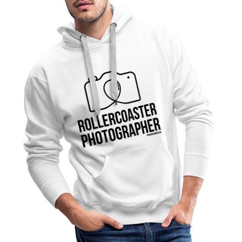 Photographe de montagnes russes - Sweat-shirt à capuche Premium pour hommes