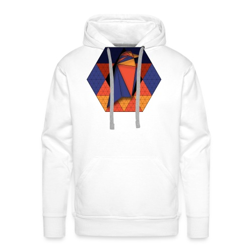 Raven Hexagon - Men's Premium Hoodie