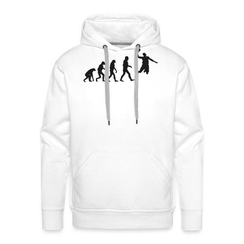 Basketball evolution logo - Sweat-shirt à capuche Premium pour hommes