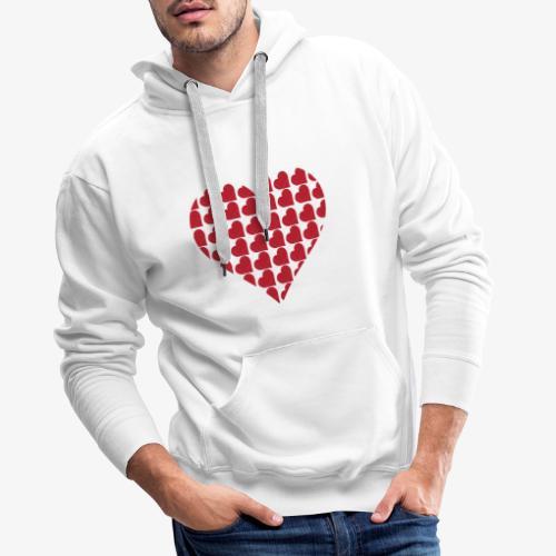 Cuoricini-love-valentine-day-heart - Felpa con cappuccio premium da uomo