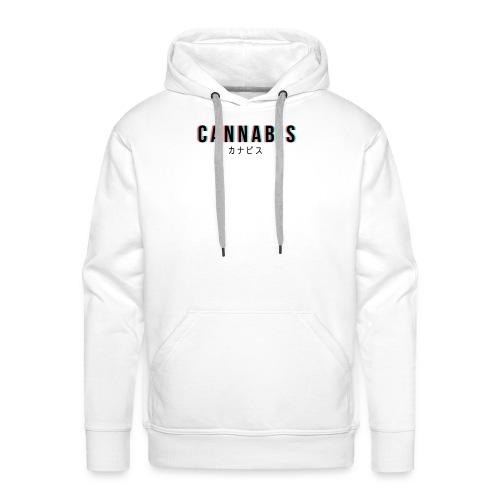 CANNABIS - Bluza męska Premium z kapturem