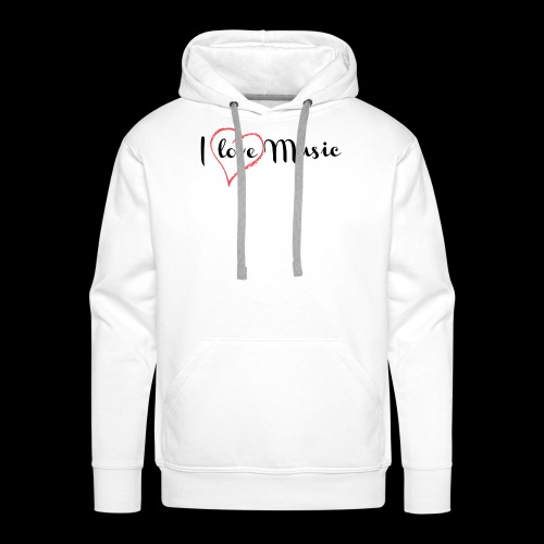 I Love Music - Sudadera con capucha premium para hombre