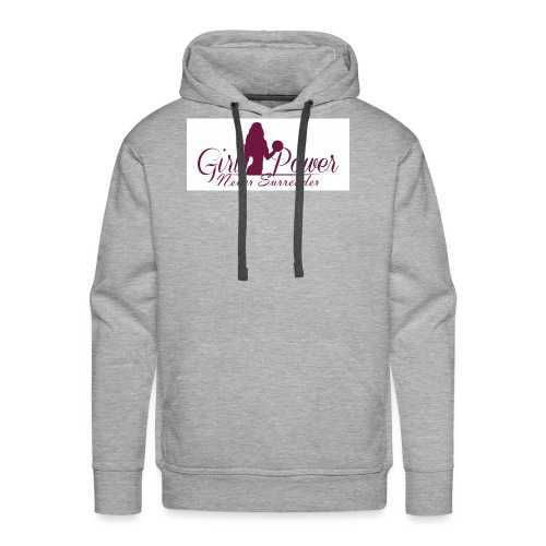 GIRL POWER NEVER SURRENDER - Sudadera con capucha premium para hombre