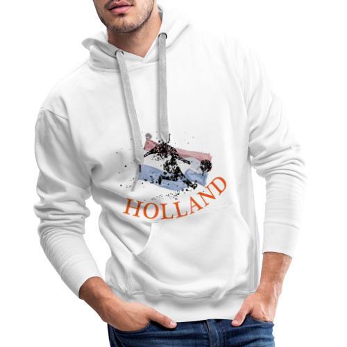 HOLLANDSE VLAG MET VOETBALLER in ACTIE - Mannen Premium hoodie