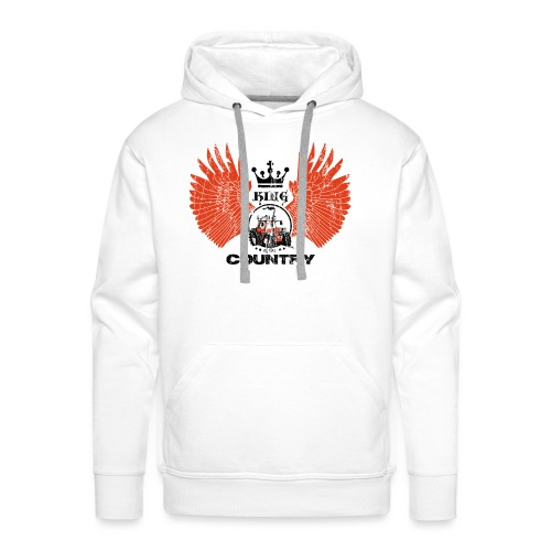WINGS King of the country zwart rood op wit - Mannen Premium hoodie