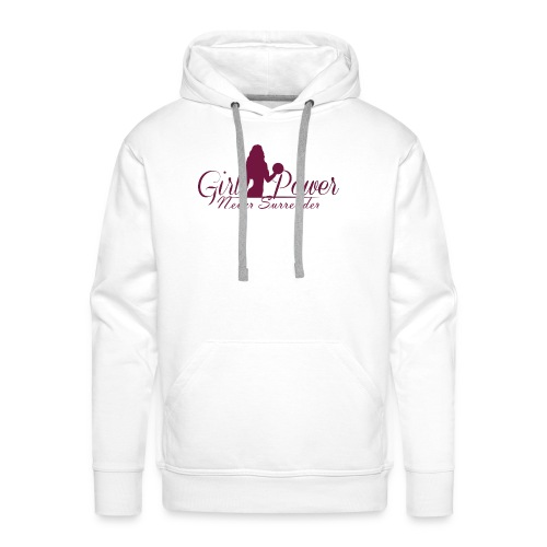 GIRL POWER NEVER SURRENDER - Sudadera con capucha premium para hombre