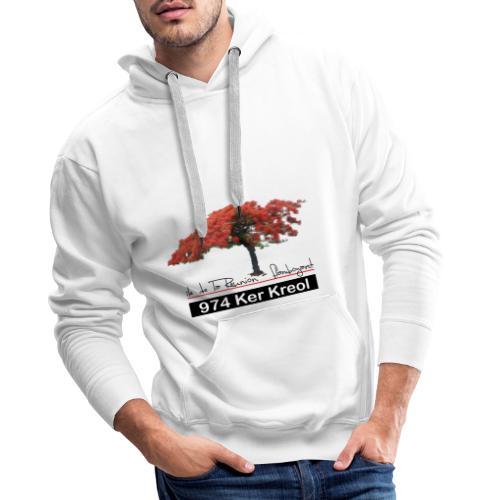Flamboyant 974 Ker Kreol - Sweat-shirt à capuche Premium pour hommes