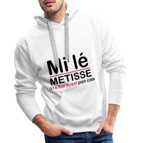 Mi lé METISSE - Sweat-shirt à capuche Premium pour hommes