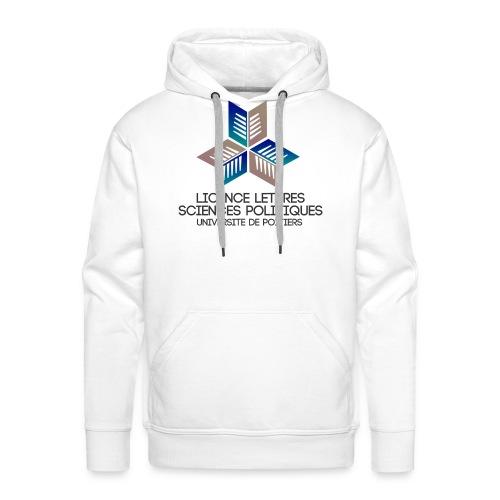 Lettres scpo bleu - Sweat-shirt à capuche Premium pour hommes