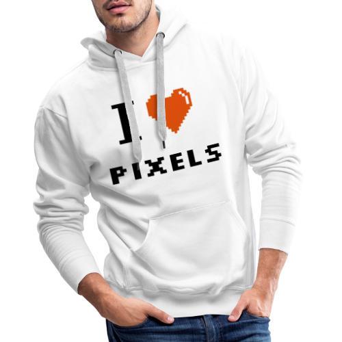 Iheart PIXELS - Men's Premium Hoodie