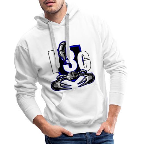 LOGO BLEU I3G - Sweat-shirt à capuche Premium pour hommes