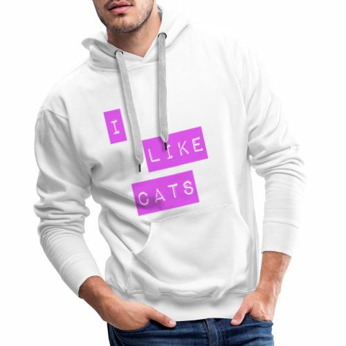 I like cats - Men's Premium Hoodie