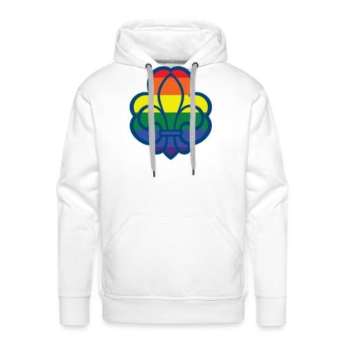 Regnbuespejder hvide t-shirts - Herre Premium hættetrøje