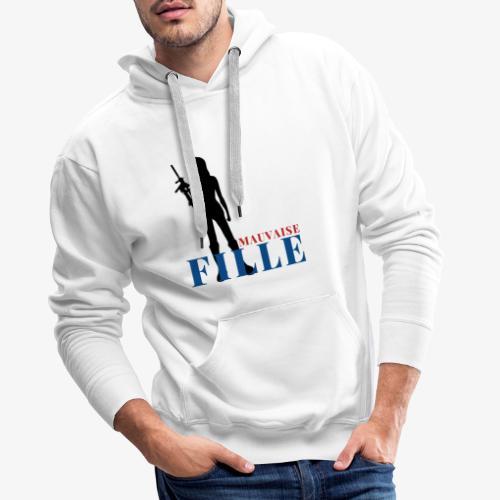 Mauvaise fille (bad girl) - Sweat-shirt à capuche Premium pour hommes