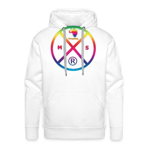 MS logo multicolor - Sweat-shirt à capuche Premium pour hommes