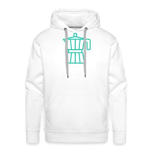 mokacoffeeappelblauwzeegroen - Sweat-shirt à capuche Premium pour hommes
