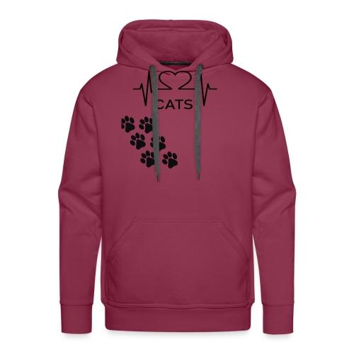 Design für Katzenbesitzer. - Männer Premium Hoodie