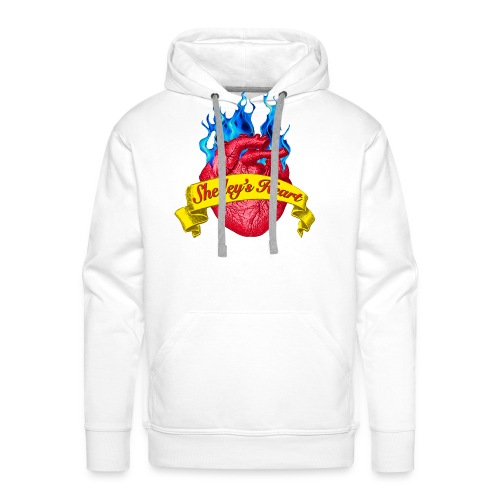 Shelley s Heart Logo - Men's Premium Hoodie