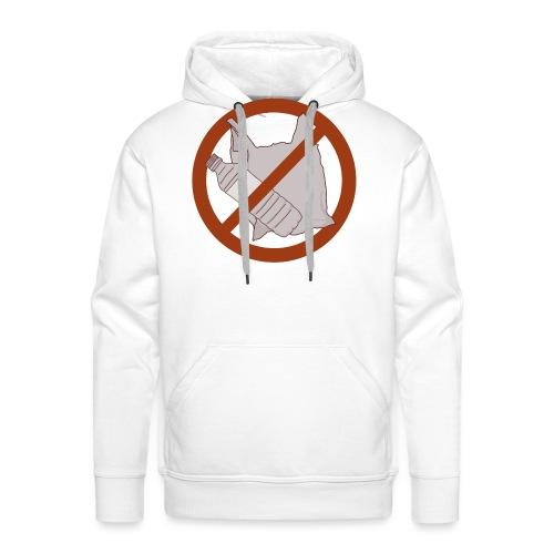 No Plastic Warnschild Umweltschutz - Männer Premium Hoodie