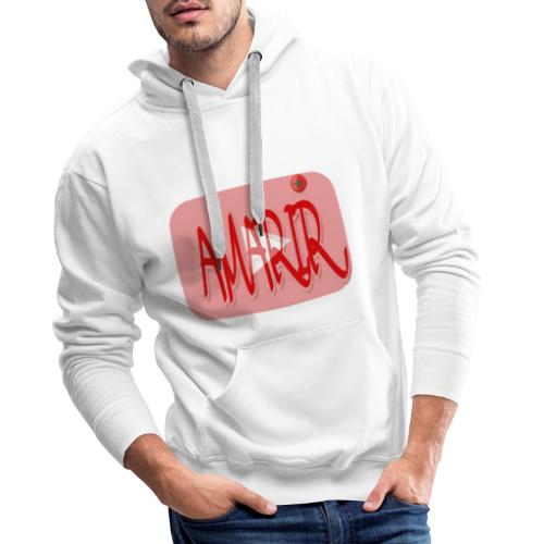 Logo youtube amarir - Sweat-shirt à capuche Premium pour hommes