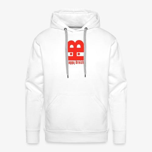happy breizh logo - Sweat-shirt à capuche Premium pour hommes