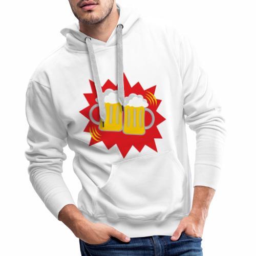 Biergläser - Männer Premium Hoodie