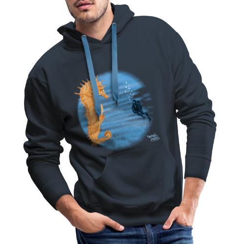 hippocampe - Sweat-shirt à capuche Premium pour hommes