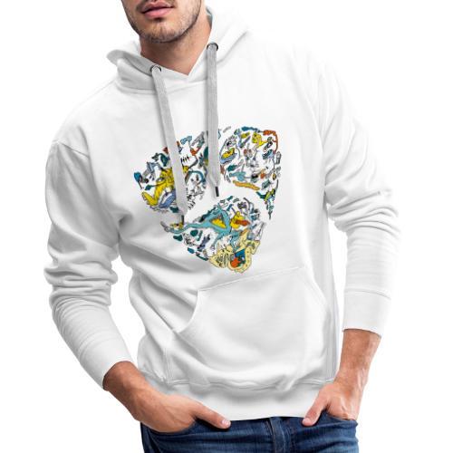 NEM cryptocurrency logo - Mannen Premium hoodie