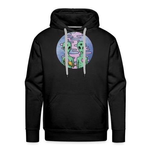 TRIPPY ALIEN - Mannen Premium hoodie